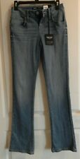 Simply Vera Vera Wang Women's Slimming Stretch Jeans Size 2 Mid Rise Bootcut Blu