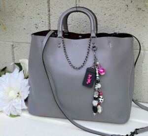 Coach 1941 Rogue tote GloveTanned leather bag purse shoulder tote grey 26886