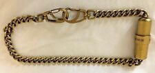 Goldtone Metal Diesel Fuel for Life EDP Perfume with Chain & Hooks
