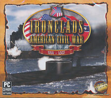 IRONCLADS AMERICAN CIVIL WAR 1861-1865 Iron Clads Naval Combat Sim PC Game NEW!