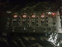 "Omnitronic 4 HE 19"" PM-444USB 4-Kanal-DJ-Mixer MISCHPULT USB-Audio-Interface XLR"