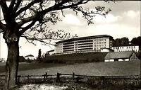 Bad Pyrmont Niedersachsen s/w AK 1966 Am Versorgungs Krankenhaus ungelaufen