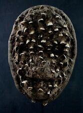 Art Africain - Superbe Masque Guéré Dents Naturelles African Mask Maske - 31 Cms