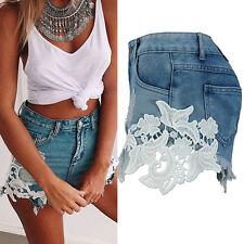 Fashion New Women High Waist Beach Jeans Lace Short Jeans Denim Hot Short Dzco