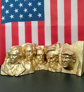 "6"" Donald J. Trump Mount Rushmore TrumpMore GOLD USA 3D Printed #MAGA#KAG# 2020"
