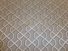 Trivia Blue Grey Geometric Chenille 140cm wide Upholstery Fabric  Fire Retardant