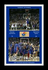 KANSAS JAYHAWKS 2008 FINAL FOUR MARIO CHALMERS SHOT & CELEBRATION MATTED PIC #2