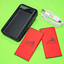 2x 5400mAh Battery+USB Charger For Net10 Samsung Galaxy S5 Active SM-G870A Phone