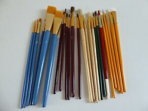 JOB LOT OF ARTISTS BRUSHES - MOSTLY UNUSED - 24 IN ALL