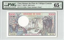 Chad 1980 P-7 PMG Gem UNC 65 EPQ 1000 Francs