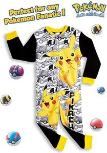 Pokemon All in One Pyjamas with Pikachu and Poke Balls for Boys