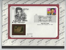 Elvis Presley, First Day Cover with Gold Replica Stamp  0430-93