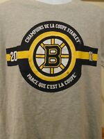 Rare Boston Bruins 2011 Stanley Cup French Version Men's  T-Shirt L