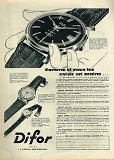 J- Publicité Advertising 1960 La Montre Difor Automatic
