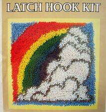 Vtg EASY Latch Hook Kit Rainbow National Yarn Crafts P401 After the Rain Rug