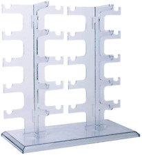 Two Row Sunglasses Rack 10 Pairs Holder Display Stand Transparent New