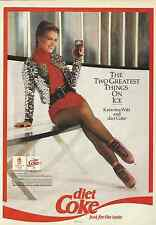 DIET COKE & KATARINA WITT OLYMPIC GOLD MEDALIST 1992 MAGAZINE AD  INV#205