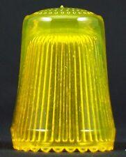 Fingerhut aus Kristallglas in gelb - AE 225