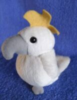 *1719c*  Aussie Sulphur-crested Cockatoo - 12cm - Grab a Jumbuck - plush