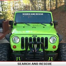 Jeep Windshield Banner SEARCH and RESCUE  Decal  Fits: Wrangler TJ JK CJ YJ XJ