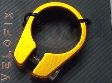 Bicycle Seatpost Seatclamp Collar Frame Seat Clamp Aluminum 28.6mm 1-1/8 GOLD