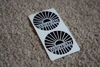 Westfield Race Racing Motorcycle Bike Car Decal Stickers Badge Black 50mm