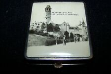1933-1934 Chicago World's Fair Real Photo Compact A Century Of Progress Belgian
