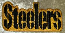 """Pittsburgh Steelers 3"""" Name Iron On Embroidered Patch ~USA Seller~FREE Ship"""