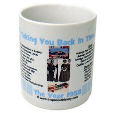 1958 Year In History Coffee Mug Includes Gift Box Born In 1958 Birthday ( Blue )