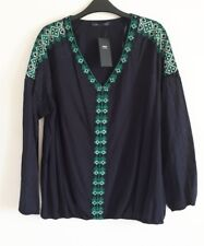 BNWT A Long sleeve Embroidered top from  Marks & Spencer SIZE 20