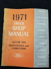 New Listing1971 Ford Truck Shop Manuals, Volume 2 And 5