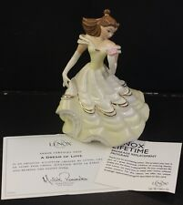 Lenox Disney Showcase Collection Belle A Dream of Love Beauty and the Beast Coa