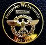 AFRIKA KORPS GERMAN GOLDEN COIN ERWIN J. ROMMEL WW2 3RD REICH TIGER DESERT FOX