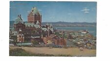 1960 postcard - Chateau Frontenac and St. Lawrence River, Quebec, Canada