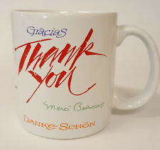 Foreign Language Words for Thank You Coffee Mug Spanish, French B73