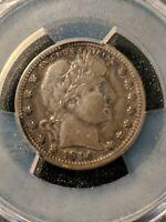 1914-S San Francisco Mint Silver Barber Quarter PCGS Ch FINE, looks VF