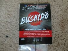 Rod Building Wrapping Bushido Cb72/6-12 Graphite Blank