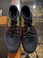 Nike Metcon DSX Flyknit Black Racer Pink Volt 852930-014 Men's Size 12.5