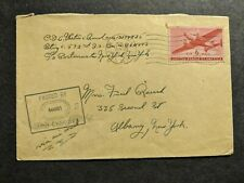 Apo 443 Rennes, France 1945 Censored Wwii Army Cover 592nd Fa Bn