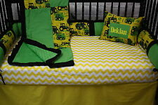5 Pc Tractor John Deere Baby Bedding Free Personalized Pillow
