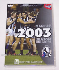 Collingwood Magpies AFL 2003 Season Highlights DVD New