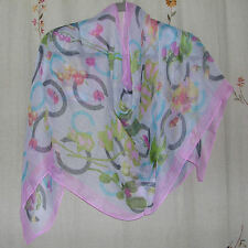 Multi-Color Fruit & Floral Textured Oblong Scarf