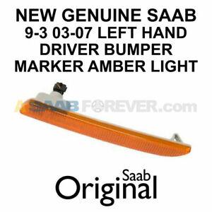 NEW GENUINE SAAB 9-3 03-07 LEFT FRONT BUMPER MARKER LIGHT DRIVERS SIDE OEM