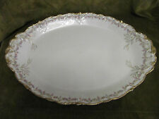 1900 french porcelain Limoges Theodore Haviland oval serving tray Louis Xvi st