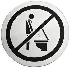 blomus Türschild bitte Setzen Schild Toilette Klo 68146