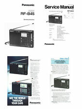 OPERATING / SERVICE MANUALS + AD + REVIEW for the PANASONIC RF-B45 - PHOTOCOPY