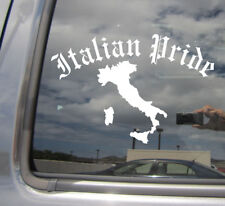 Old English Italian Pride - Italy Country Car Window Vinyl Decal Sticker 10539