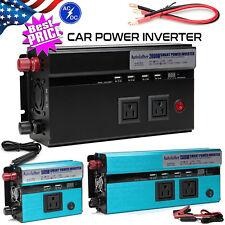 Power Inverter Charger Converter 12V-110V 4000W Peak RV Car/Home for Electrinic