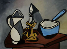 Rare Original, Gouache painting, signed Pablo Picasso w COA, Miro, Dali era