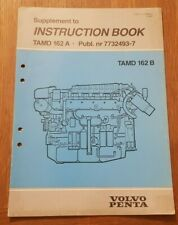 Genuine Volvo Penta Instruction Manual Supplement TAMD162A 7732493
